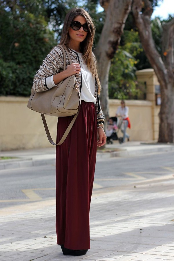 Skirt: long skirt, summer, maxi skirt, maxi maroon skirt, burgundy ...