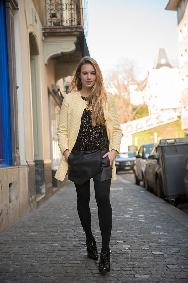 fashion gamble jacket sweater skirt shoes jewels