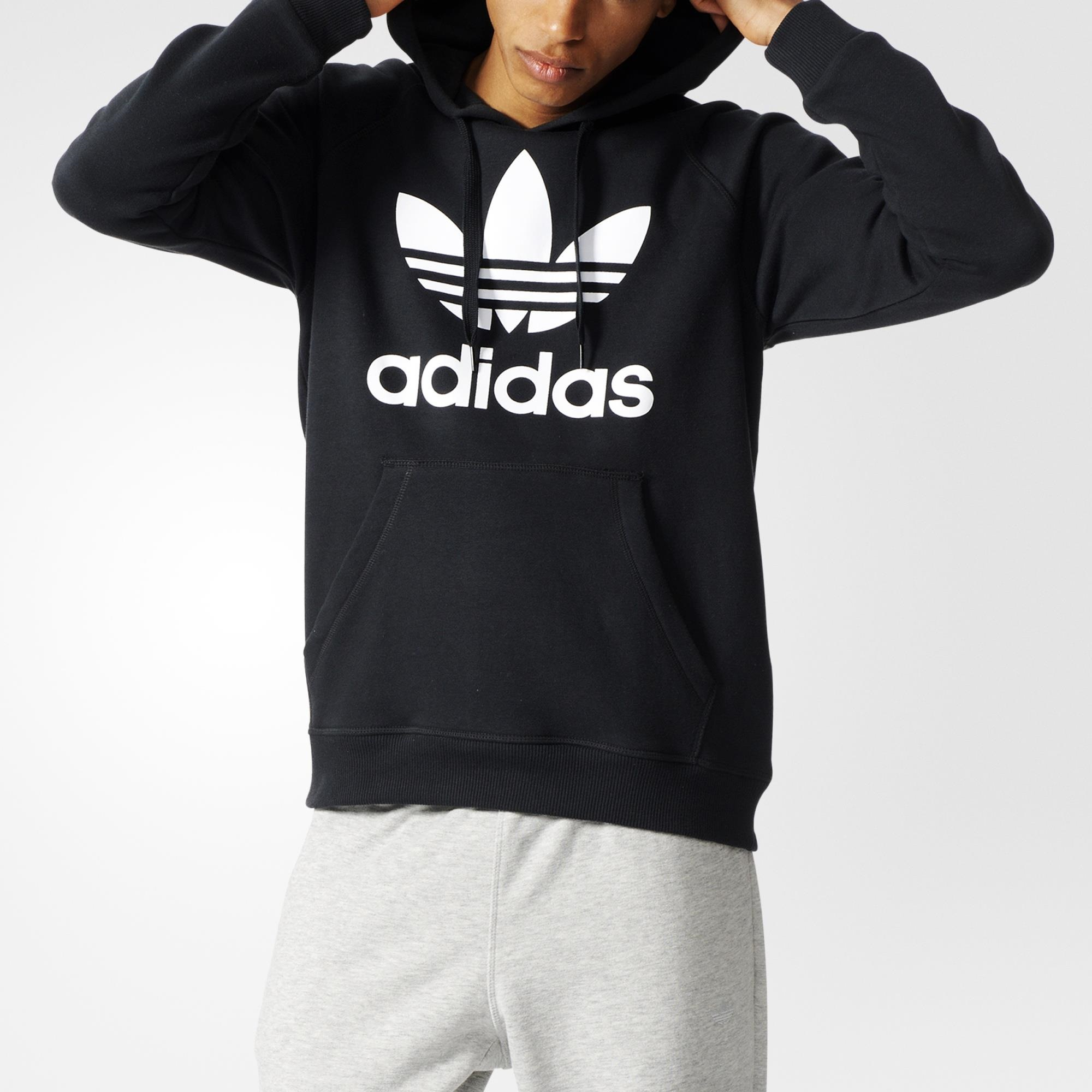 Buy cheap mens black adidas hoodie >Up to OFF56