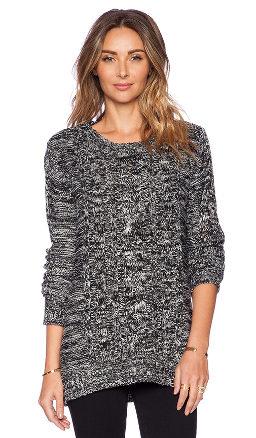 Pink stitch zero sweater in black & white from revolveclothing.com