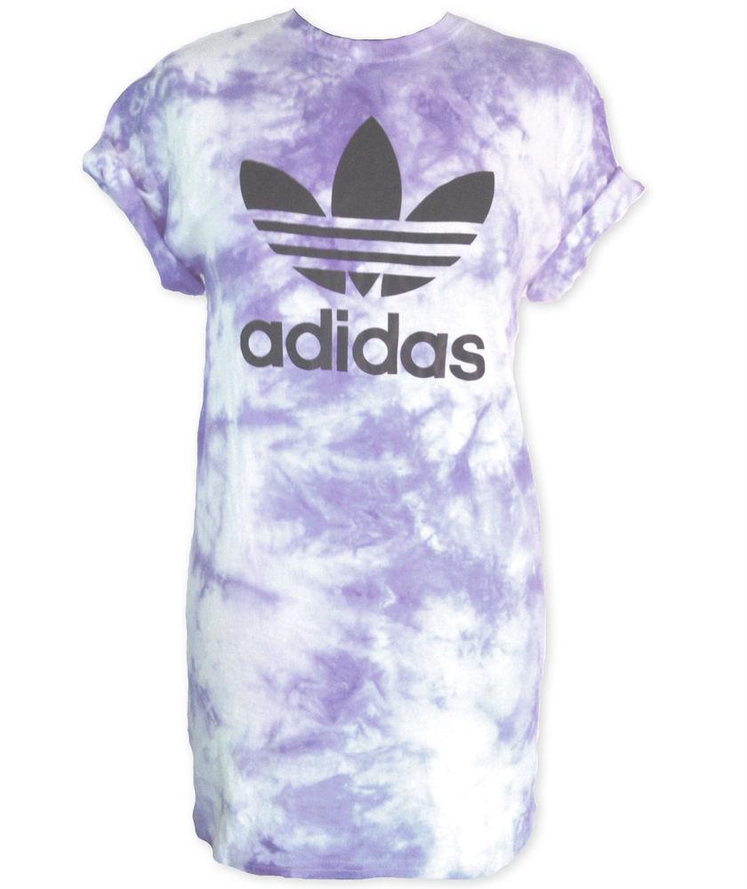 Authentic Adidas Originals Unisex Purple Tie Dye Tee | Stag & Bone Apparel
