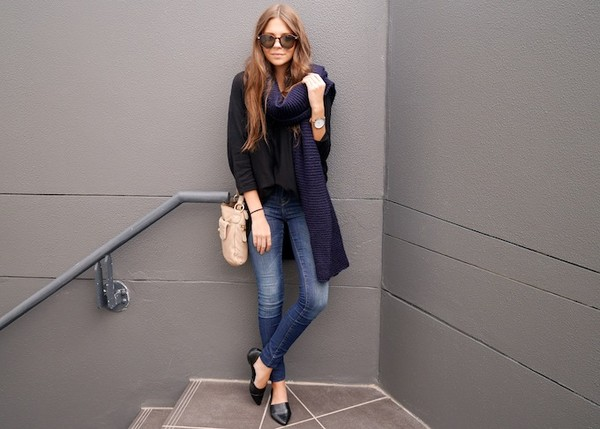 spin dizzy fall sweater scarf jeans bag sunglasses jewels