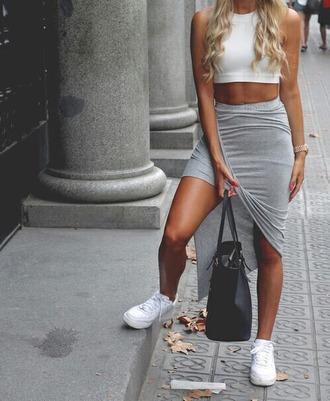 skirt grey skirt jogger skirt summer fashion red lime sunday