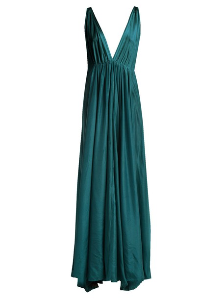 KALITA dress maxi dress maxi silk green