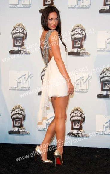 white dress megan fox mtv movie awards