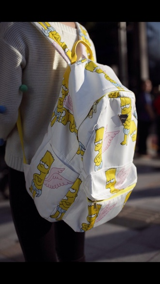 bag bart the simpsons backpack back to school style swag cool bart simpson