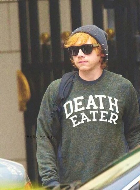 rupert grint harry potter and the deathly hallows harry potter green sweater shirt blue comfy comfysweater