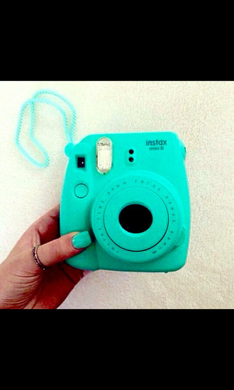bag photography home accessory blue mint fuji mini camera turquoise aqua polaroid