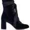 Harper lace-up velvet ankle boots