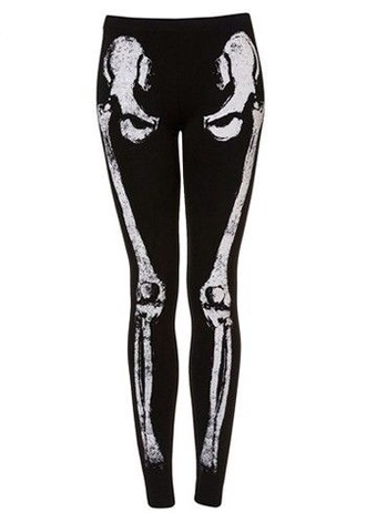 pants leggings skeleton bones