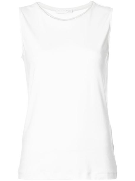Fabiana Filippi - tank top - women - Cotton/Spandex/Elastane - 38, White, Cotton/Spandex/Elastane