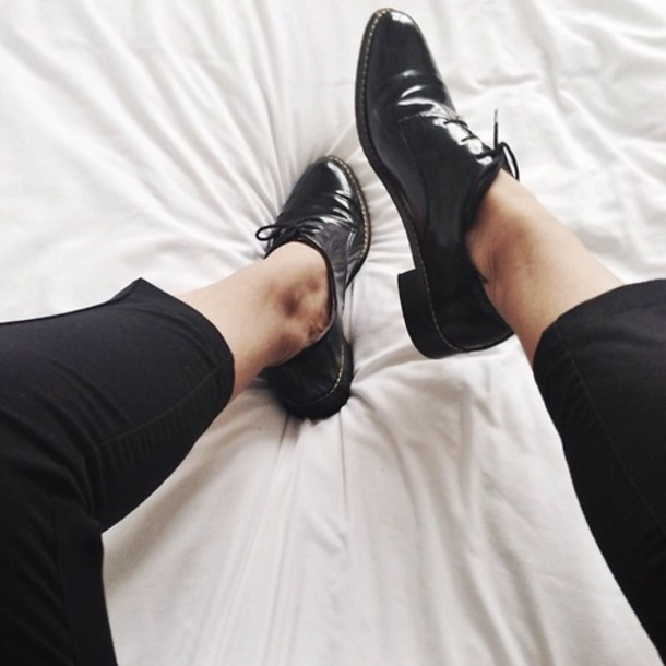 black oxford shoes for women
