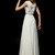 2014 Flamboyant A Line High Scoop Neck Floor Length Ivory Chiffon Beading Dress - Willpromdress.com