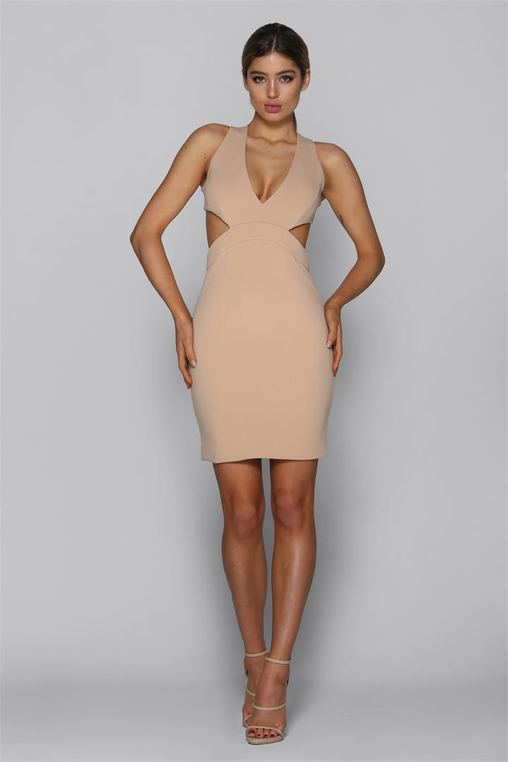 Bad AF Fashion Marcella Dress in Nude