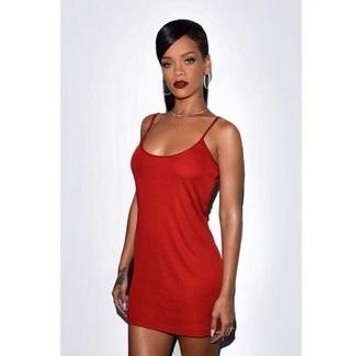 dress rihanna red dress red satin dress