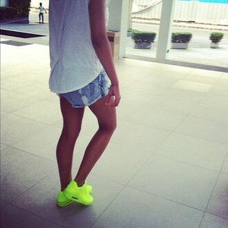 shoes sneakers neon yellow nike nike air max 90 hyperfuse green sportswear fit fashion whatever