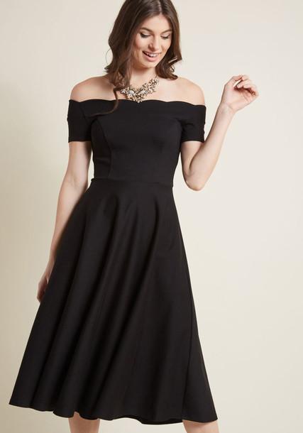 dress midi dress midi scalloped knit black