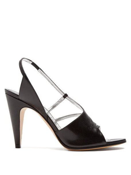 Givenchy - Show Line Leather High Heel Sandals - Womens - Black