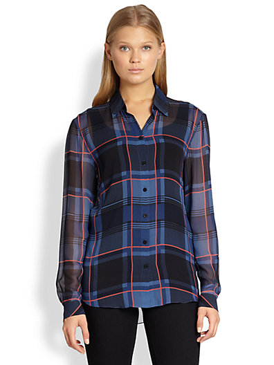 Robert Rodriguez - Plaid Silk Shirt - Saks.com