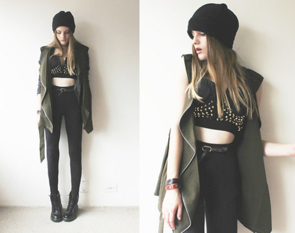 jacket pants belt top hat tank top shoes