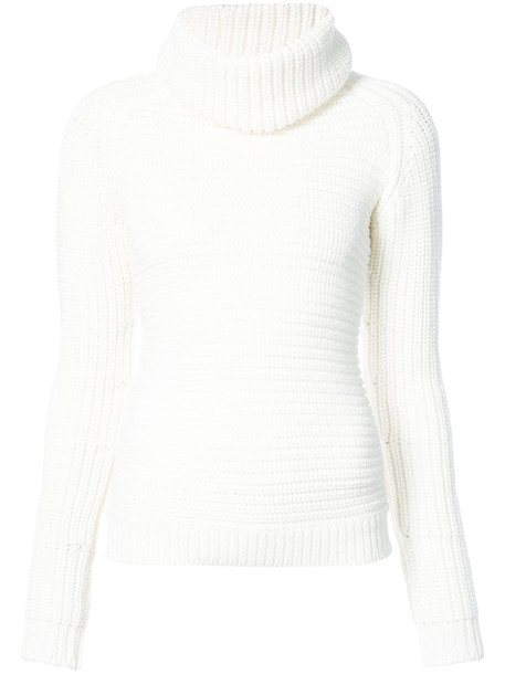 BARBARA BUI sweater turtleneck turtleneck sweater women white wool