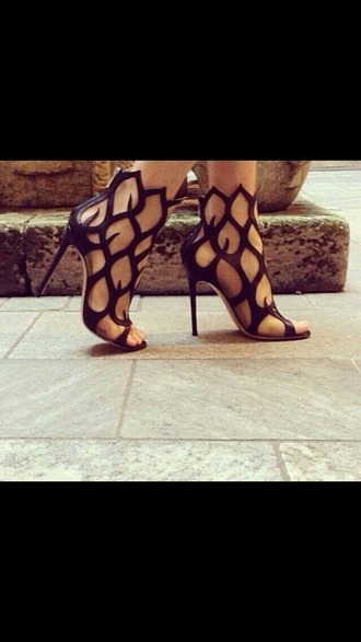 shoes gold silver heels