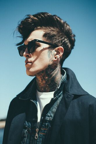 sunglasses menswear tattoo hair hot hipster menswear guys who is this person?