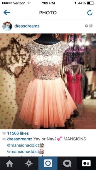 dress pink dress homecoming dress sparkly dress beautiful dress