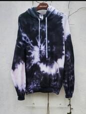 sweater,tie dye,cute,grunge,white,black,yin yang,tie dye hoodie,hoodie,jacket,grey hoodie