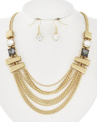 jewels jewelry necklace statement necklace accsesorize gold gold chain