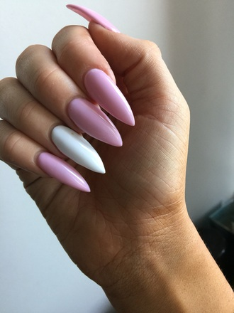 nail accessories nails light pink claws claws out stiletto nails