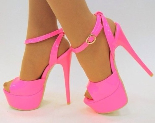Shoes: pumps, pumps sparkly heels, pink, pink high heels, high ...