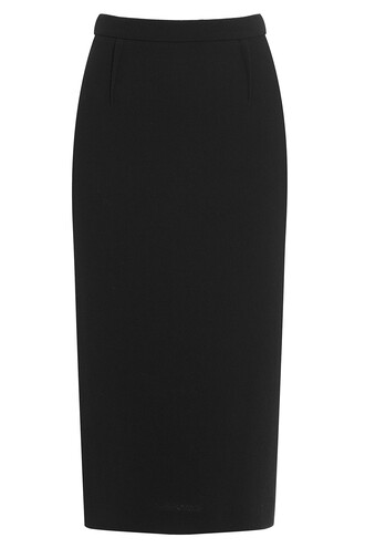 skirt pencil skirt wool black