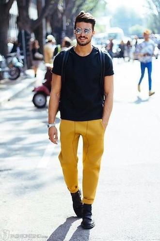 jeans yellow jeans
