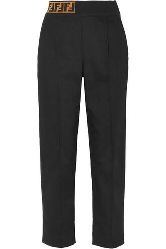 pants jacquard black knit