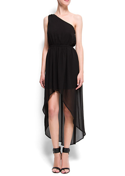 skirt asymmetrical dress black