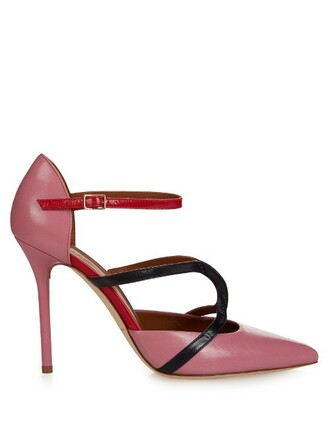 pumps leather pink shoes