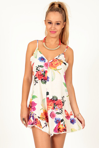 Lovesong Printed Playsuit | Foxx Foe