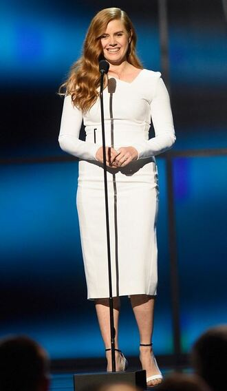 dress amy adams white white dress sandals midi dress
