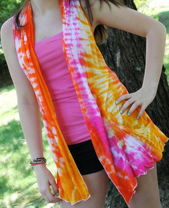 Flowy tie dye vest medium by gethappytiedye on etsy