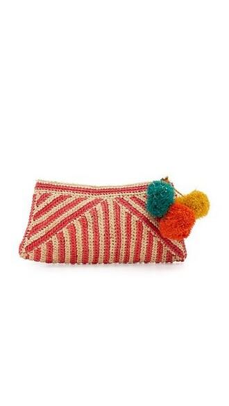 clutch coral bag