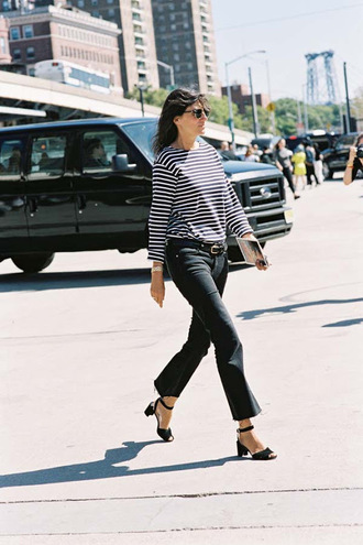 vanessa jackman blogger jeans top t-shirt shoes kick flare cropped bootcut jeans cropped bootcut black jeans