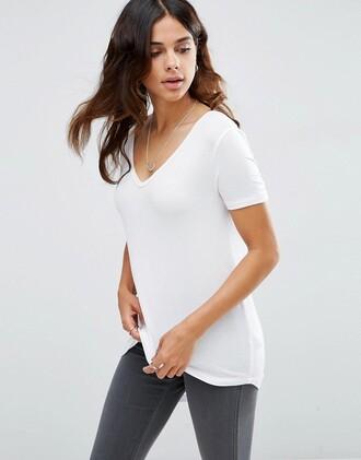 t-shirt white t-shirt classic basic asos