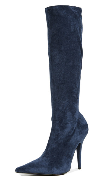 Jeffrey Campbell Gamora Point Toe Tall Boots in navy