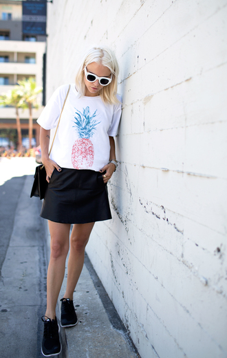 always judging t-shirt skirt shoes bag sunglasses jewels