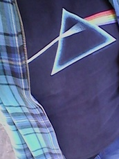 t-shirt,pink floyd,trippy,rock,rock band,grunge,checkered,checked shirt,blue checked,karen aguilera
