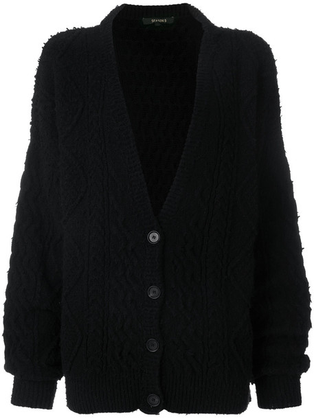 Yeezy - cable knit cardigan - women - Polyamide/Wool - S, Black ...