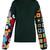 Crochet-sleeved wool sweater
