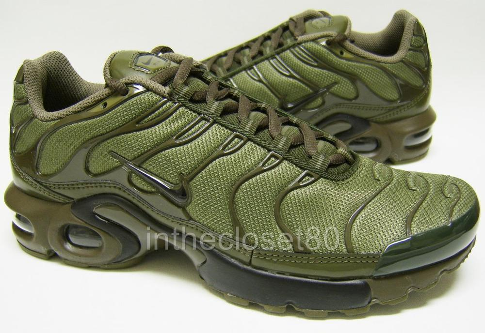 separation shoes 3cbeb 56869 Nike Air Max Plus GS Tn Tuned Cargo Olive Green Juniors Girls Boys 655020  200