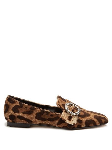 Dolce & Gabbana loafers print velvet shoes